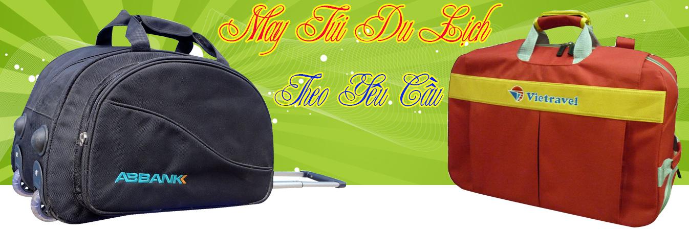 May túi xách du lịch in logo quảng cáo
